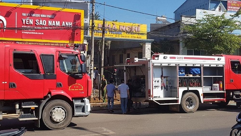 Bực tức vì mất xe, khách đốt luôn nhà nghỉ ở Bình Phước